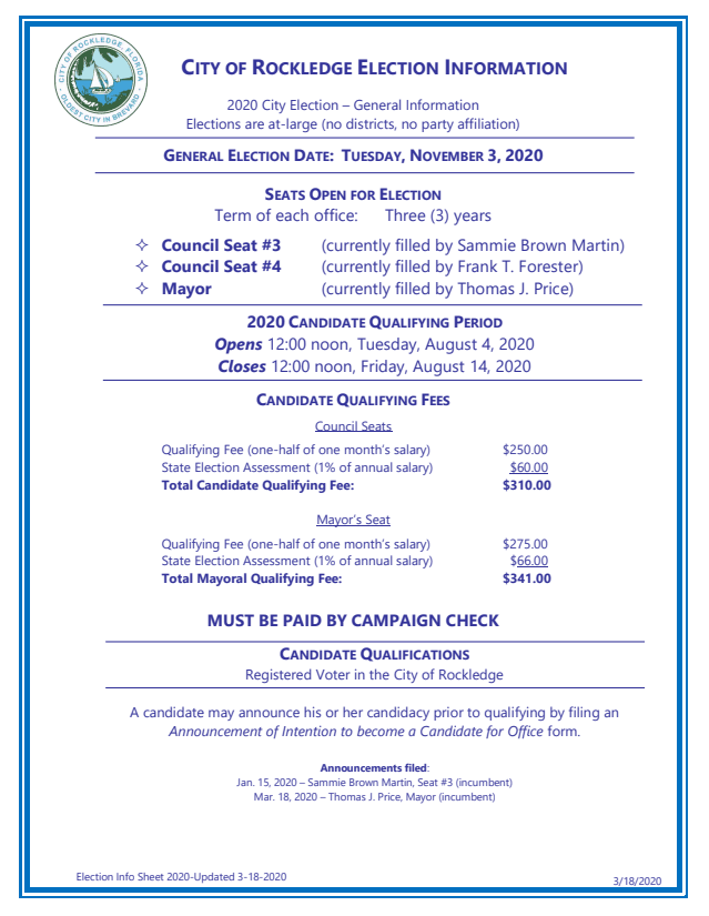 Election Info Sheet 2020-Updated 3-18-2020