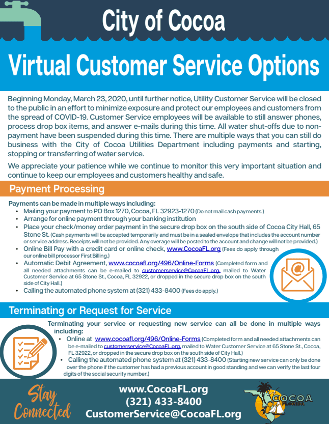 Cocoa Virtual Customer Service Options